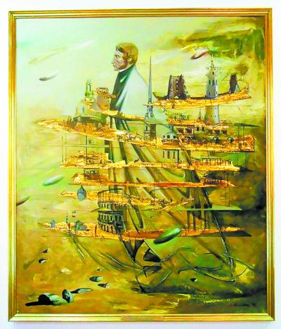 «Шлях Міцкевіча» Віктара Альшэўскага. Тая карціна, што вісіць у кабінеце пасла Італіі ў Беларусі.