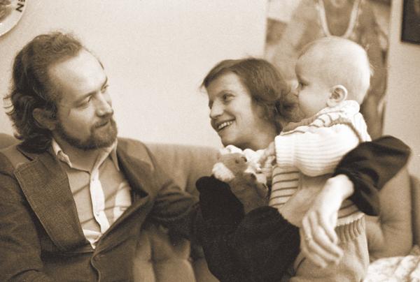 Ольга Корбут и Леонид Борткевич с сыном.