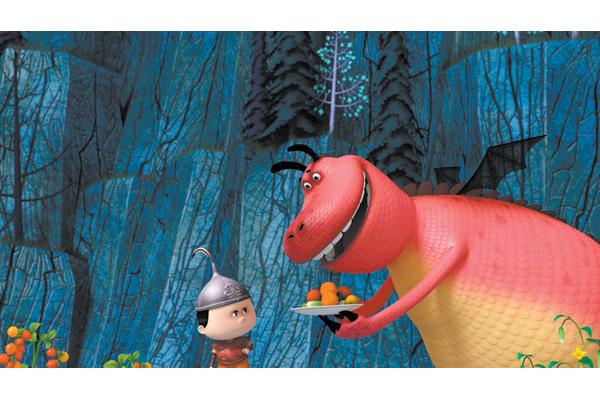 Кадр из мультфильма  «Тимур и дракон».